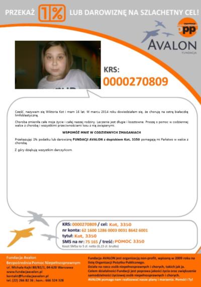 Fundacja AVALON. Prośba o wsparcie dla kolegi.